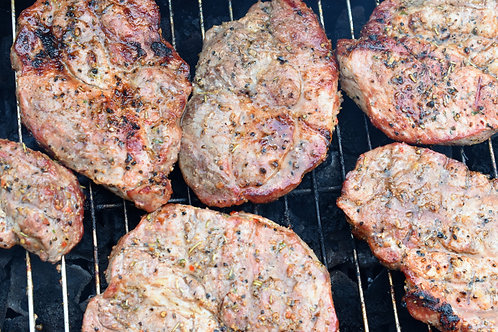 "Bone-In Rib eye Steaks (1"" thick, 2/pkg) Priced Per Lb."
