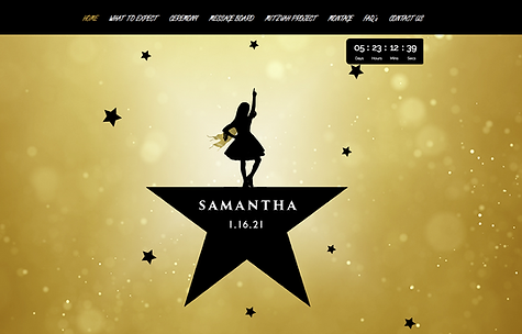 Samantha Bat Mitzvah Website