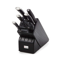 Wusthof ® Classic Ikon 7-Piece Black Knife Block Set