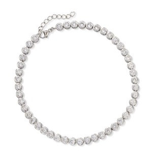 "4.70 ct. t.w. CZ Anklet in Sterling Silver. 9"" $71.25"