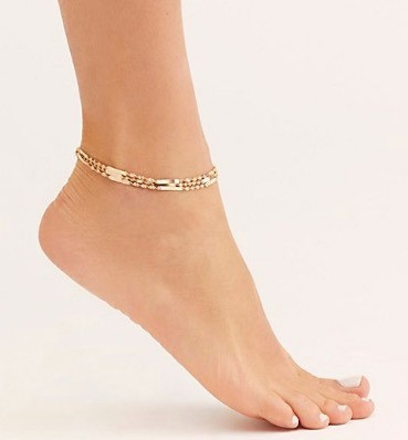 Triple Chain Anklet $20.00