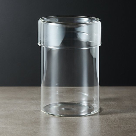 DAWSON LARGE ROUND GLASS CANISTER