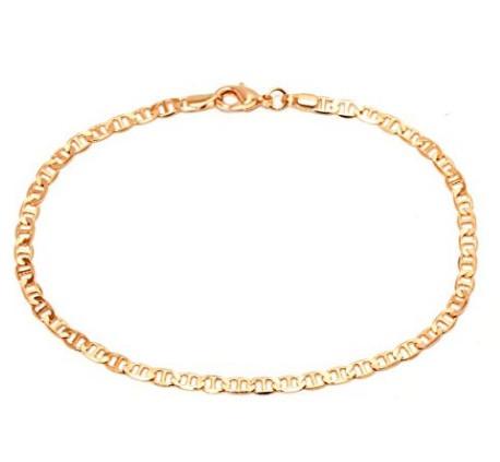 Barzel 18K Gold Plated Flat Marina Link Anklet $12.99