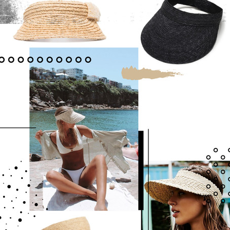 SUMMER ESSENTIAL MUST HAVE - STRAW VISORS