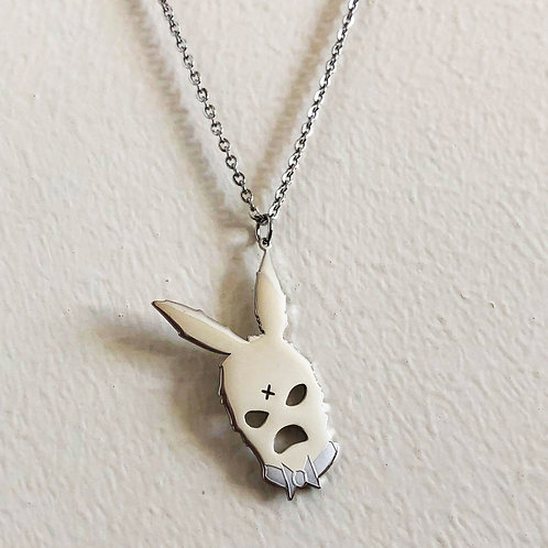 BUNNY PENDANT AND CHAIN (SILVER)