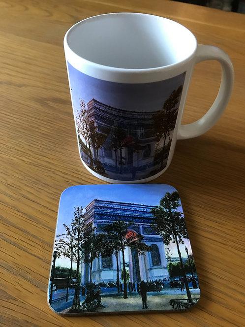 Arc de Triumphe Mug and Coaster