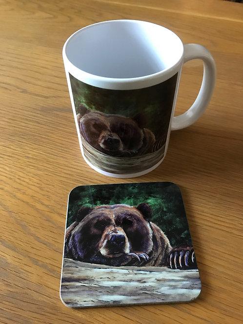 Bored Bear Mug and Coaster