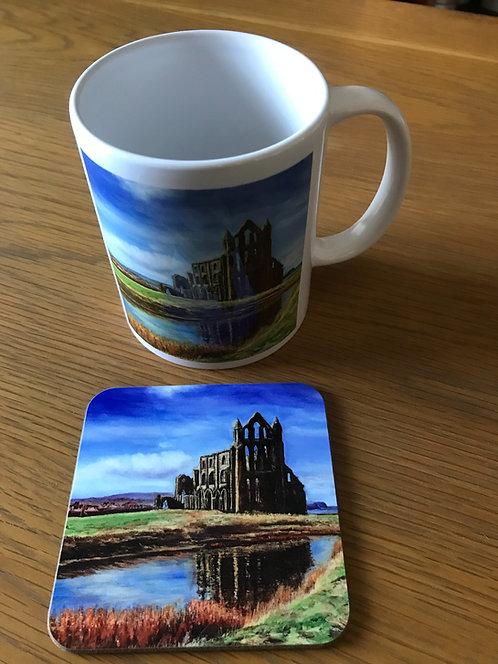 Whitby Abbey Mug and Coaster