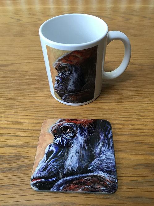 Gorilla Mug and Coaster