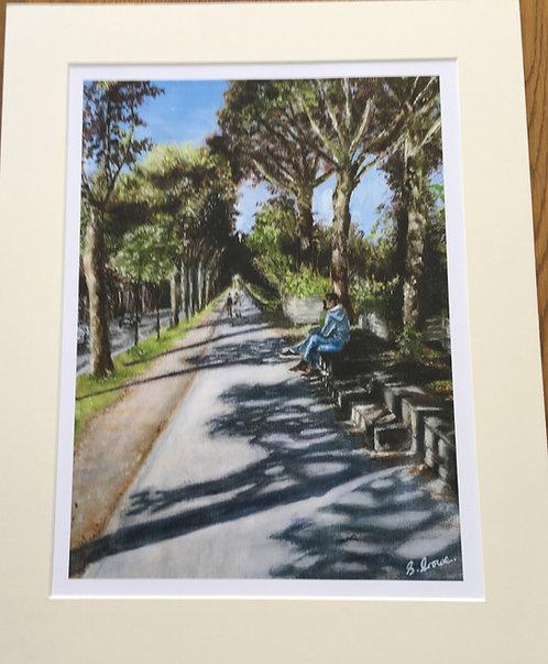 A stroll in Paris Giclee print