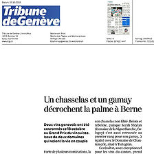 Tribune de Geneve, meilleur encaveur de l'année, Diego Mathier