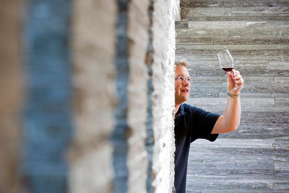 Weindegustation, Weinverkostung, Wein probieren, Diego Mathier, Schweizer Winzer des Jahres, Wallis, Salgesch