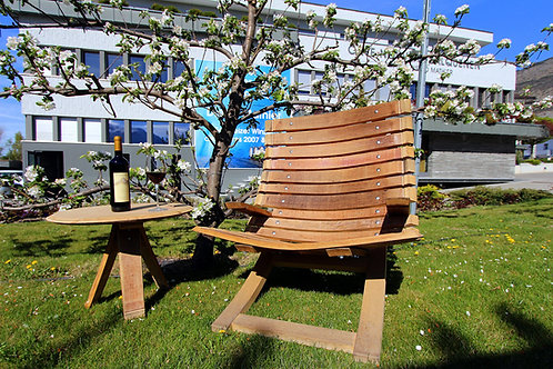 Chaise & table barrique