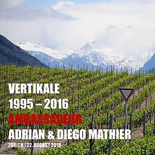 Weinfanatic, Vertikaldegustation, Ambassadeur des Domaines Diego Mathier rot, Schweizer Winzer des Jahres