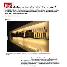 Blick.ch, Diego Mathier, Schweizer Winzer des Jahres, Schweizer Winzer des Jahrzehnts, Salgesch, Wallis