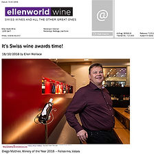 ellen world wine, diego mathier, swiss winemaker of the year