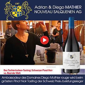 Ambassadeur des Domaines Diego Mathier rot, Pinot Noir Tasting Schweiz