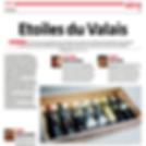 Etoiles du Valais, Le Nouvelliste, Petite Arvine les Pyramides