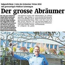 Walliser Bote, Diego Mathier, Schweizer Winzer des Jahres