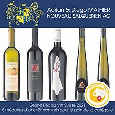 grand prix du vin suisse 2021, médailles d'or, nominés, adrian & diego mathier nouveau salquenen