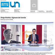RTS 1, Diego Mathier, Vigneron de l'année