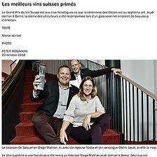 COOP Zeitung, Diego Mathier, Schweizer Weingut des Jahres