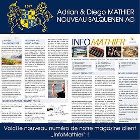 magazine client, InfoMathier, Adrian & Diego Mathier Nouveau Salquenen AG