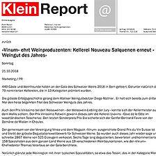 Kleinreport, Diego Mathier, Schweizer Weingut des Jahres