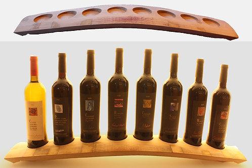 Présentoir en bois (pour quatre bouteilles)