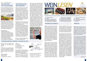 WeinLesen, Hauszeitung Adrian & Diego Mathier Nouveau Salquenen