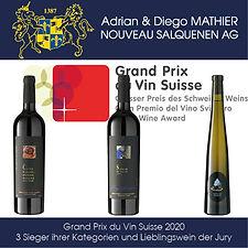 Grand Prix du Vin Suisse 2020, 3 Kategoriensieger & Lieblingswein der Jury, Diego Mathier