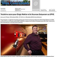 vins confederes, Diego Mathier, Vigneron de l'année
