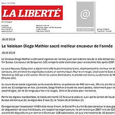 La Liberté, Diego Mathier, meilleur encaveur de l'année