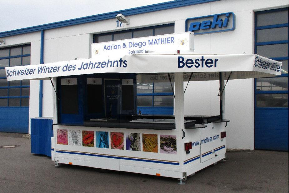 Mathier's mobile WeinBAR, Ausschankwagen, Festwagen, Getränkestand, Miete, Vermietung, Ausleihen, Weinbar, Weinwagen