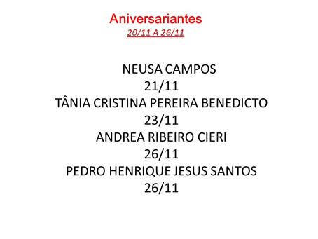 Comemorações