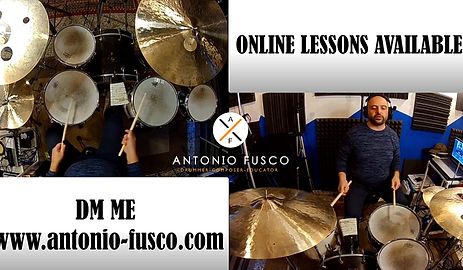 Online drums lessons available on Skipe, Zoom, Ding Talk