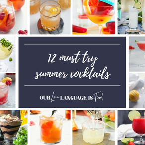 12 MUST TRY SUMMER COCKTAILS (RECIPE ROUNDUP)