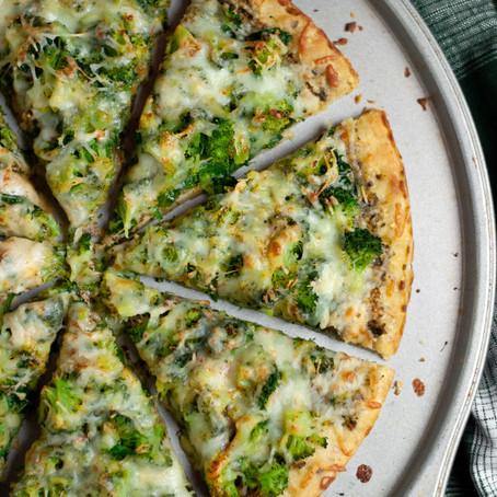 BROCCOLI ARUGULA PIZZA (VEGETARIAN PIZZA)