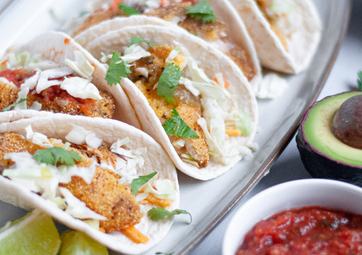 Cornmeal Crusted Fish Tacos