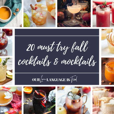 20 MUST TRY FALL COCKTAILS & MOCKTAILS (RECIPE ROUNDUP)