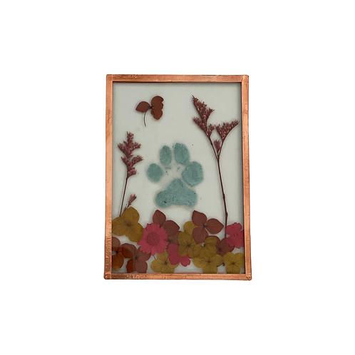 "Paw Print Window Pane (XS 2x3"")"