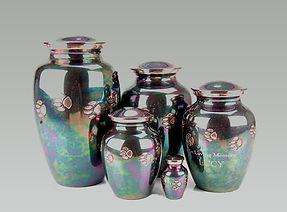 Teal Raku Vase for Pet Cremation