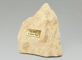 Rock Urn Engraved for Pet Cremation
