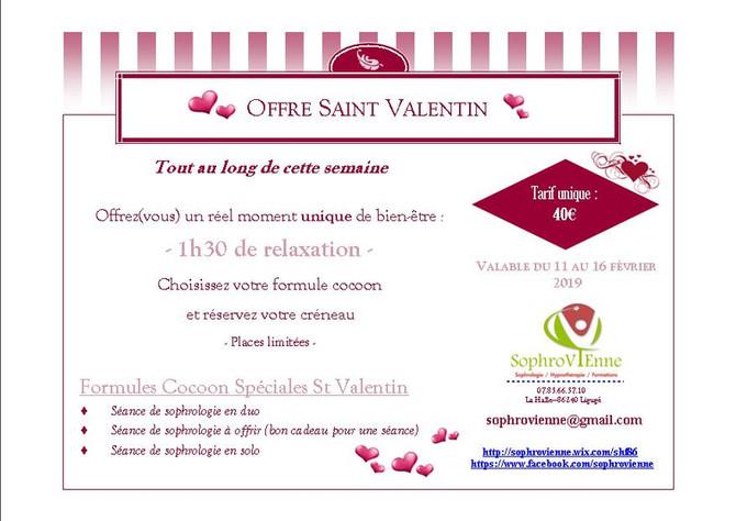Offre spéciale Saint Valentin - 1h30 de Sophrologie en solo ou duo