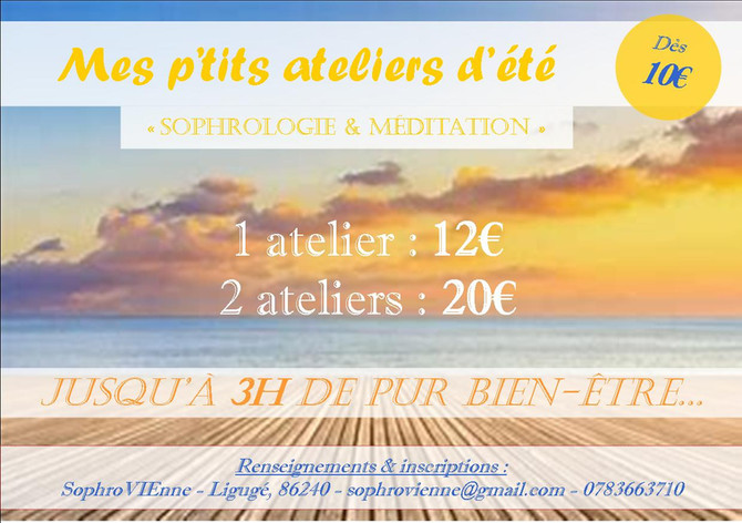Ateliers SOPHROLOGIE et MEDITATION