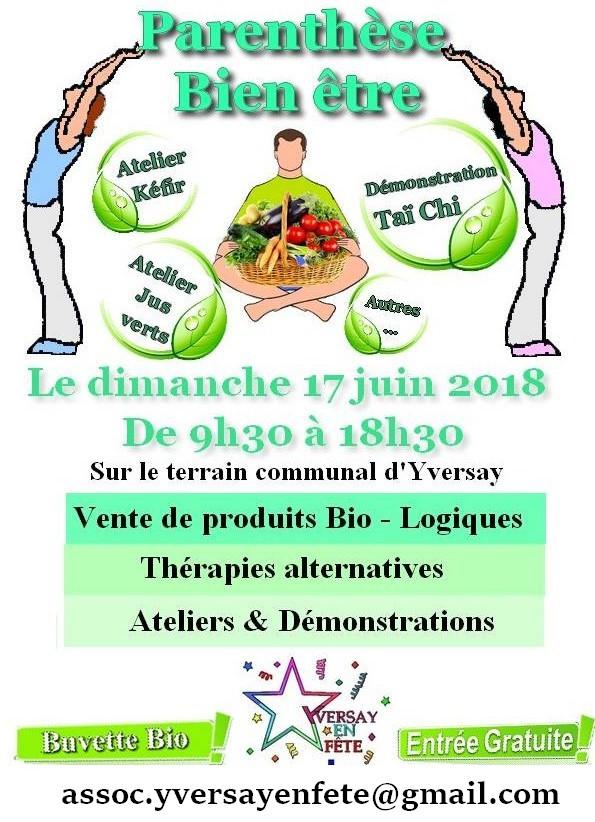 Salon bien-être en plein air, Yversay (86) - 17 Juin 2018