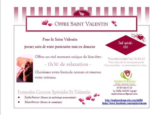 Offre Spéciale SAINT VALENTIN 2017
