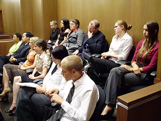 An image of jurors in the jury box