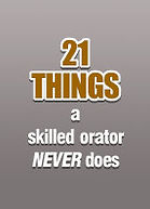 A graphic link to the article, 21 Things a Skilled Orator Never Does