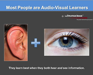 A litigation graphic explaining audio-visual learning